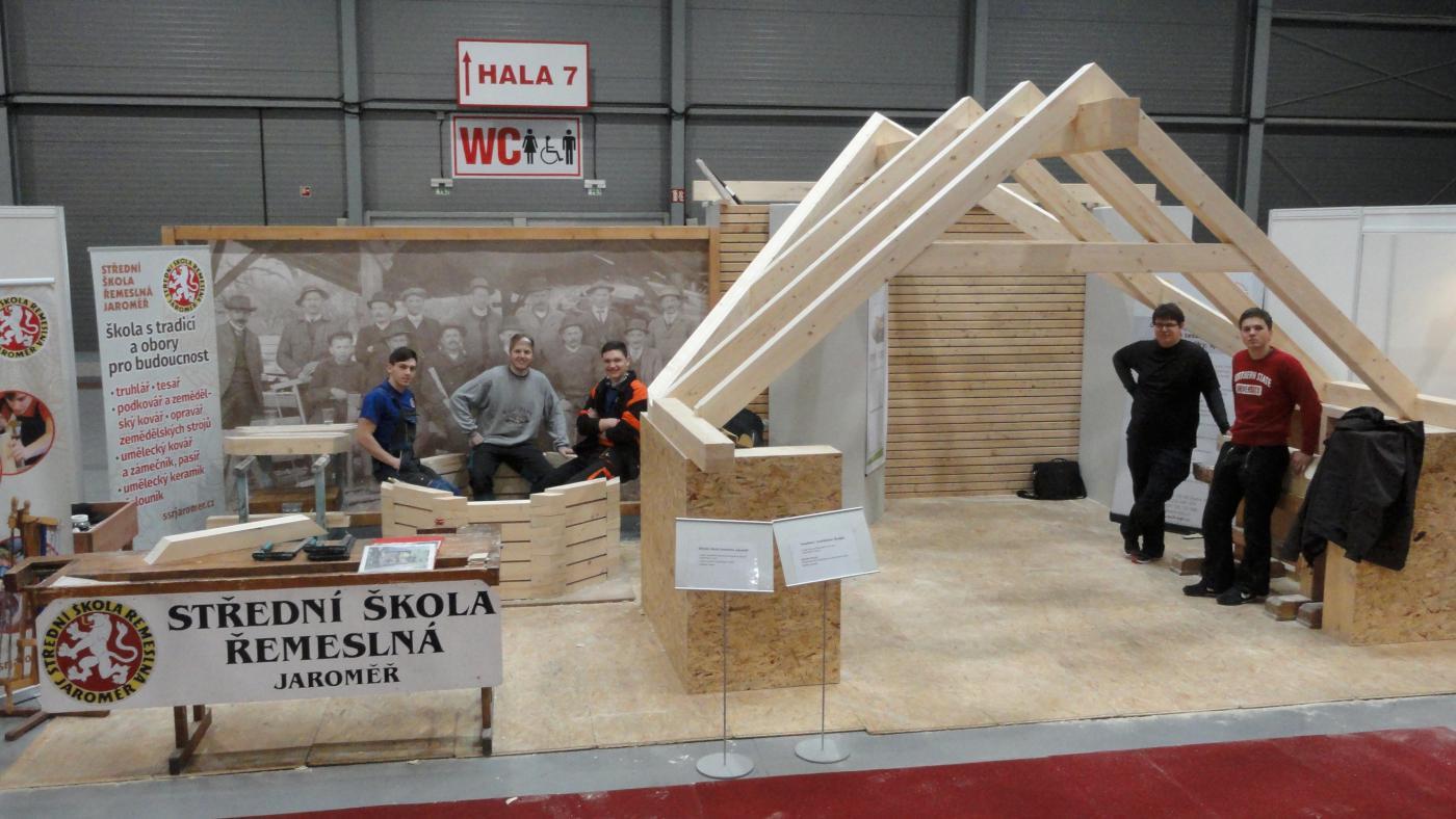 Prezentace tesařského řemesla výstava střechy Praha 2019